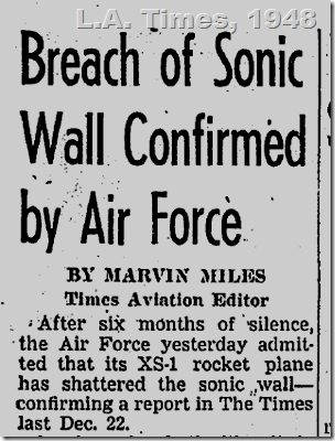 June 11, 1948, Chuck Yeager