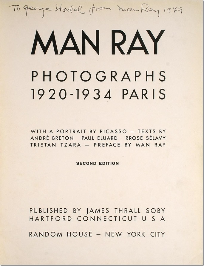 Man Ray to George Hodel