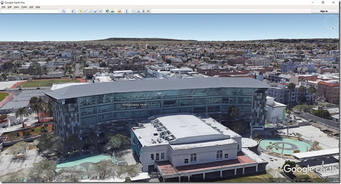 Google Earth, Ambassador Hotel