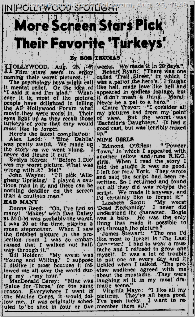 Long Beach Press Telegram, Aug. 25, 1948