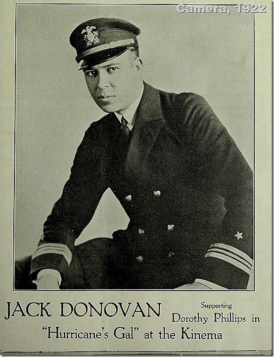 Jack Donovan, Camera 1922