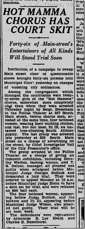 L.A. Times, 1927