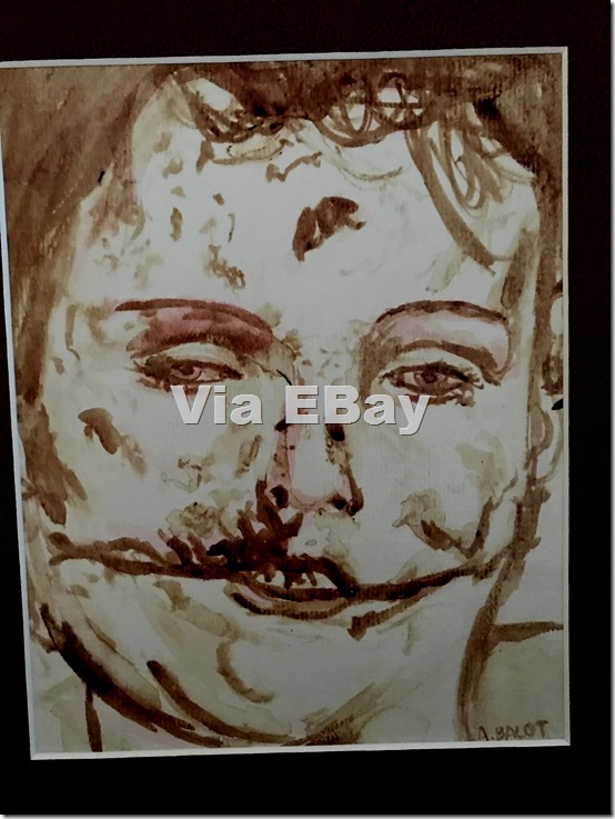 Black Dahlia painted in artist's blood