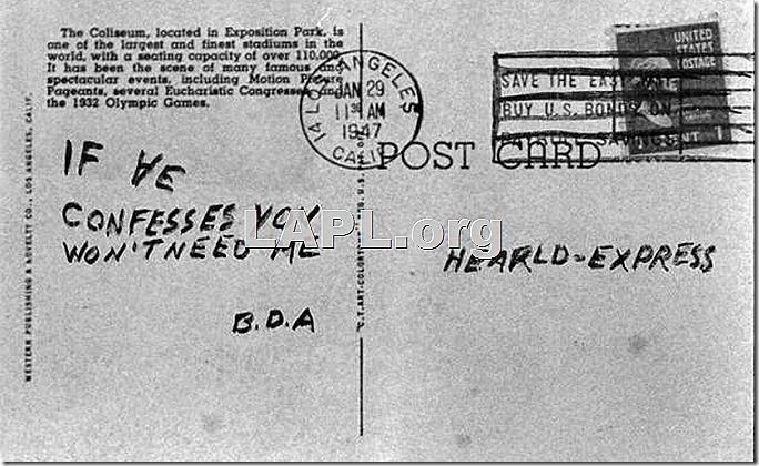 Black_Dahlia_Avenger_ Postcards_LAPL