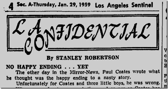 Jan. 29, 1959, L.A. Sentinel