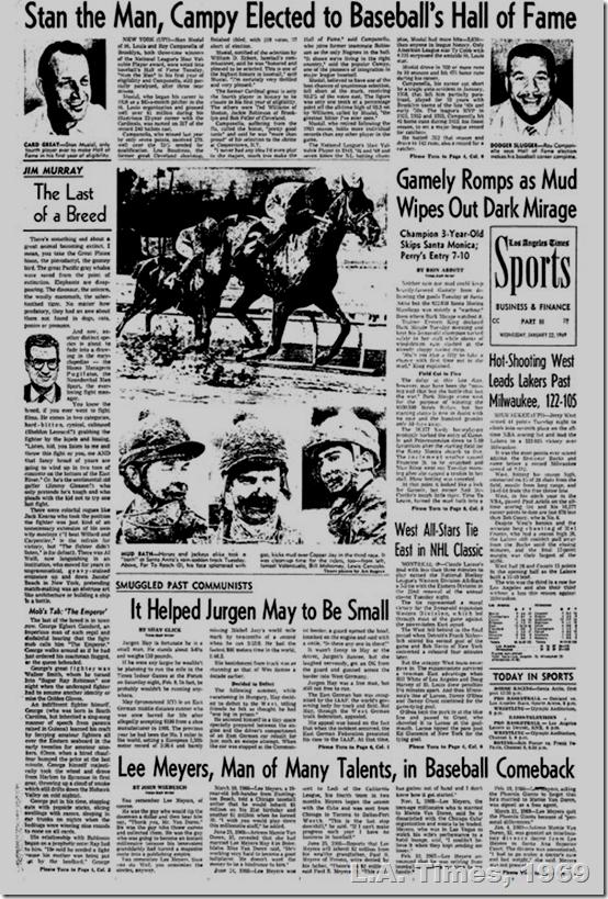L.A. Times, 1969