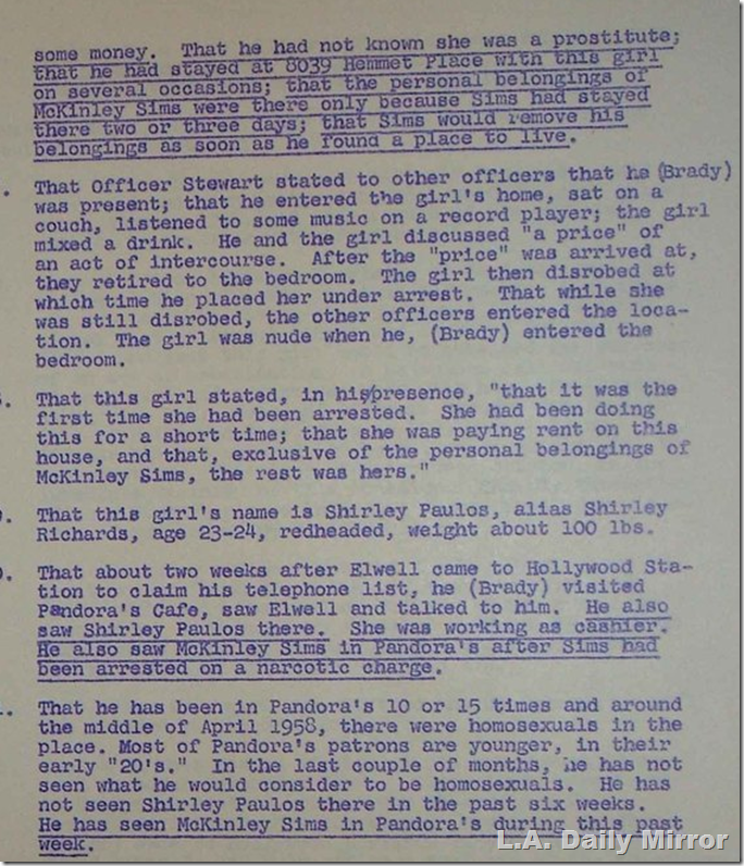 Police Commission File, 1959