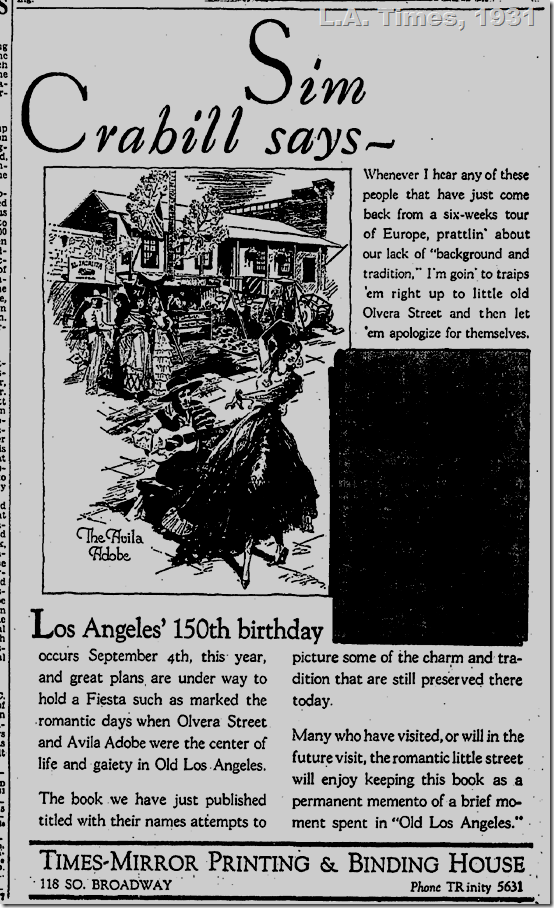 L.A. Times, 1931