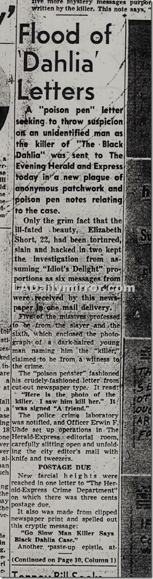 Jan. 30, 1947, Crackpot Notes