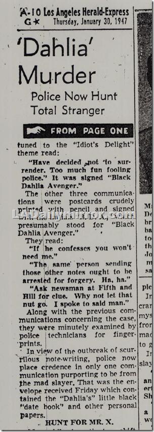 Jan. 30, 1947, Dahlia Avenger