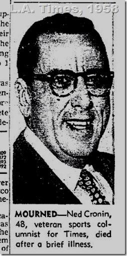Ned Cronin, 1958