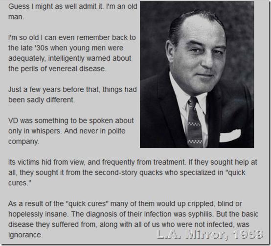Paul Coates, Feb. 12, 1959, L.A. Mirror