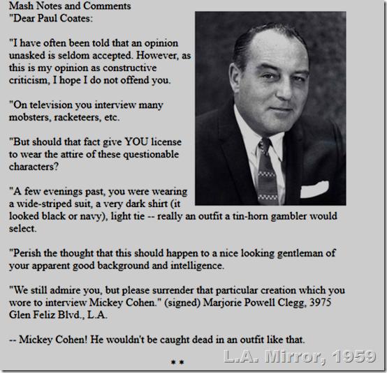 Feb. 14, 1959, Paul Coates