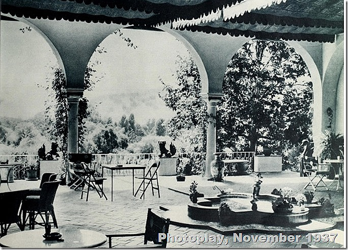 Brown House Patio, Photoplay 1937