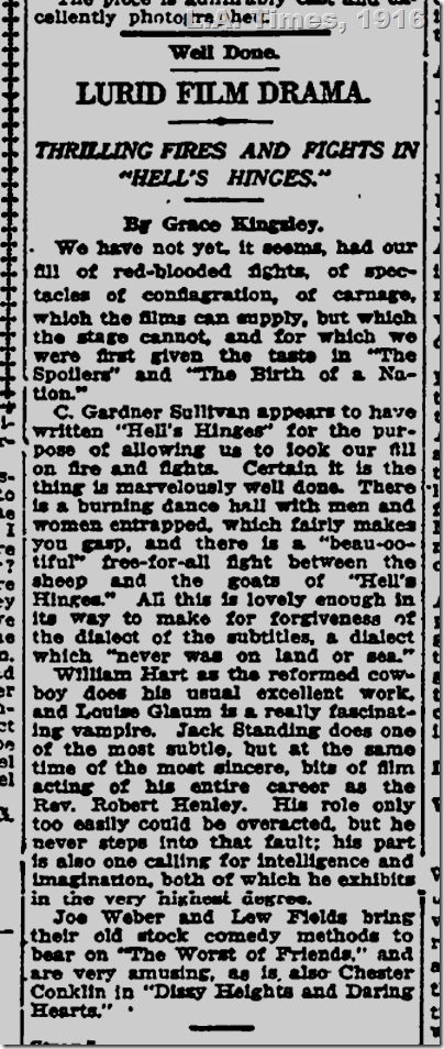 March 6, 1916, L.A. Times, Hell's Hinges