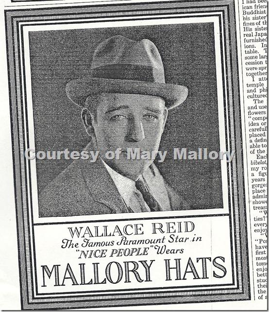 WALLACE REID MALLORY HATS