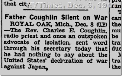 N.Y. Times, Dec. 9, 1941.