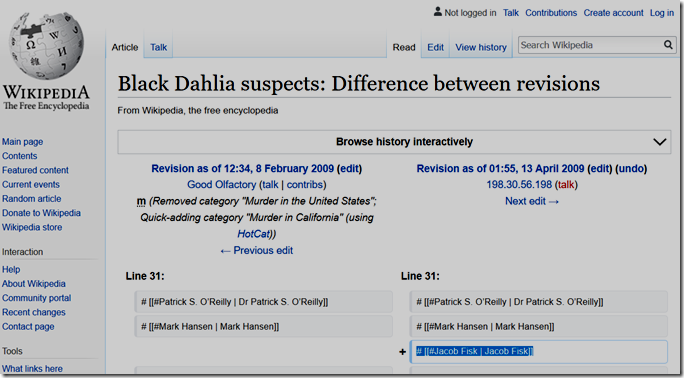 Wikipedia Black Dahlia Suspects