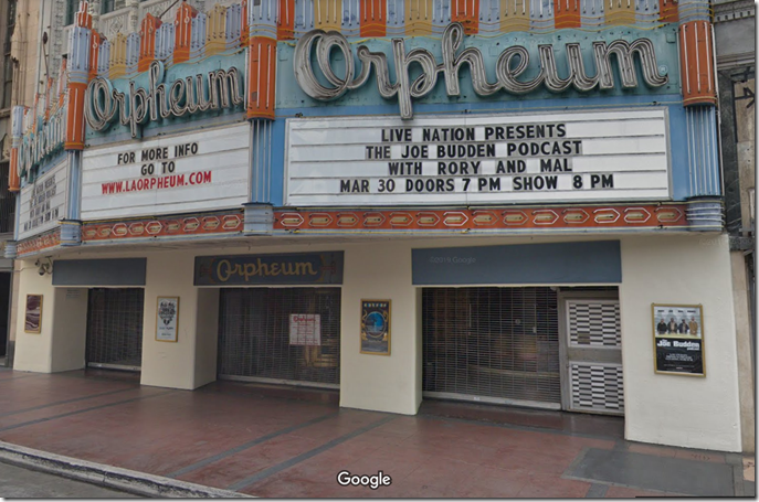 The Orpheum Theater, built on the location of the Woodley.