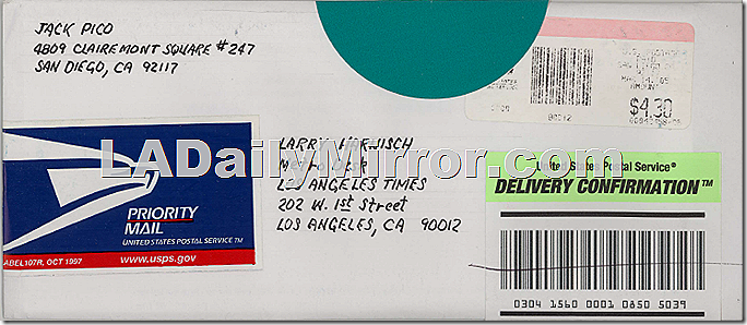 Jack Pico Crackpot Mail