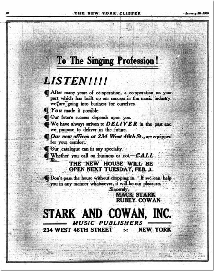 Stark and Cowan NY Clipper 1-26-20
