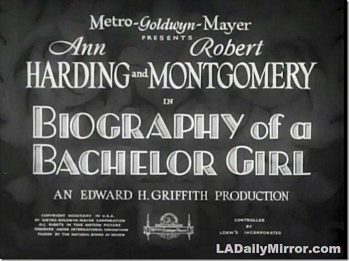 Feb. 22, 2020, Biography of a Bachelor Girl