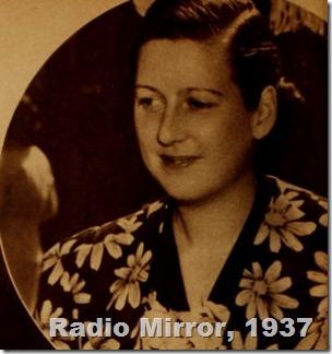 Harriet Parsons Radio Mirror 1937