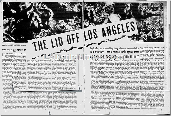 The Lid Off Los Angeles