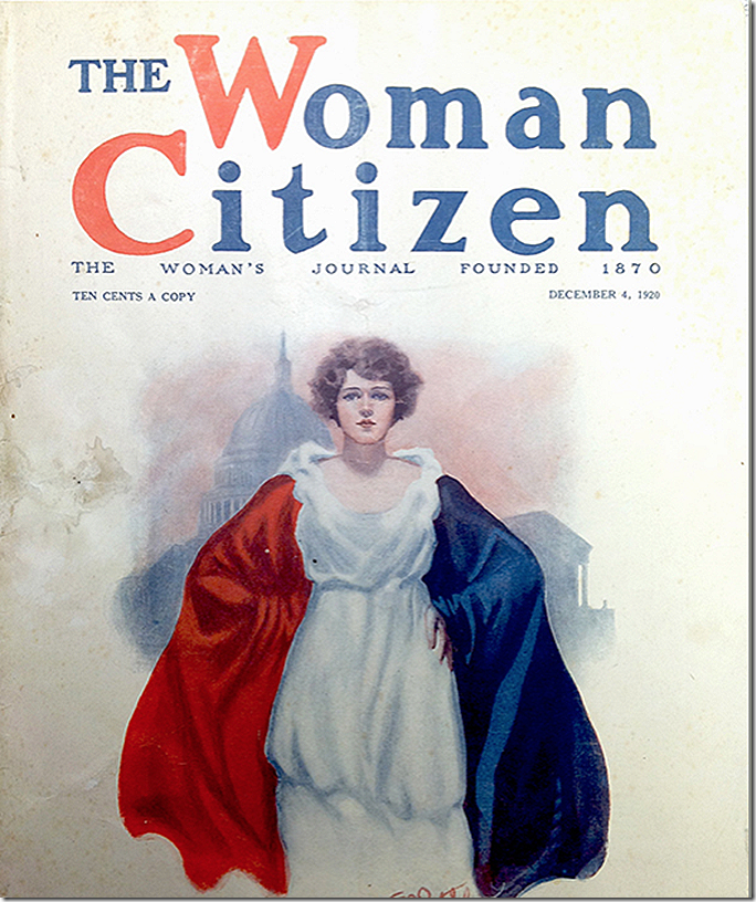 The Woman Citizen Suffrage Cover 1920 Color