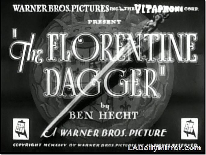 Jan. 2, 2021, Florentine Dagger Mystery Photo Title