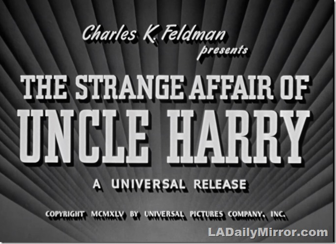 Main Title, the Strange Affair of Uncle Harry