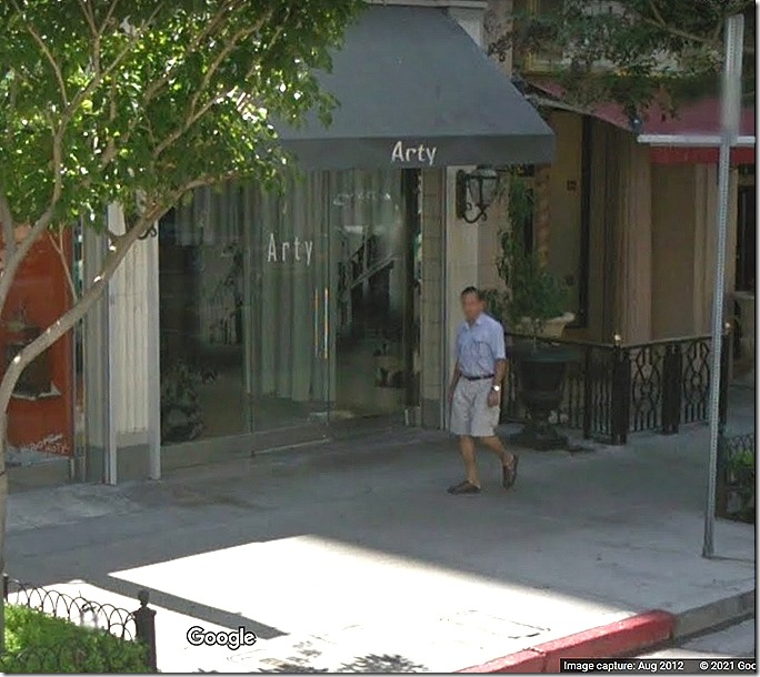 Arty, 634 S. Main St., site of the Dugout Cafe, where a bartender thought he might have seen Elizabeth Short -- and no, he didn't. Via Google Street View