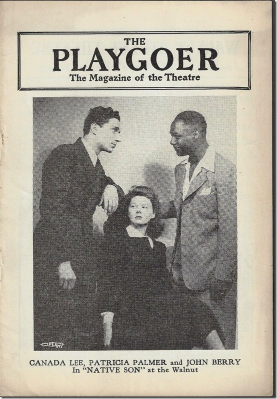 "Canada Lee, Patricia Palmer and John Berry in ""Native Son"""