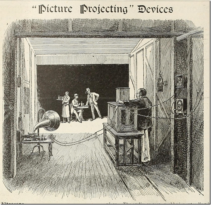 The Vitascope, an early movie projector