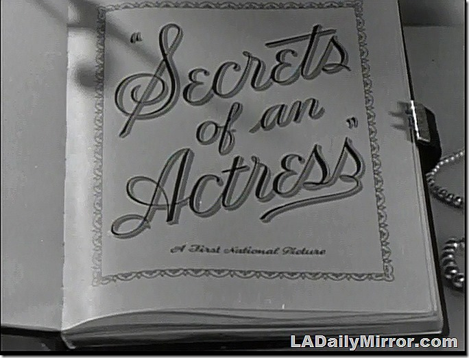 Opening Title Secrets of An Actress, in which an invisible hand opens a diary