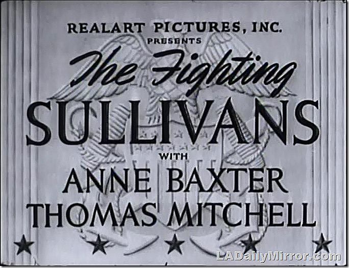 June 5, 2021, Main Title Card of The Fighting Sullivans