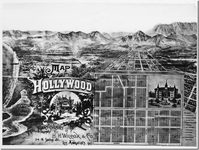 H.H. Wilcox 1887 tract map of Hollywood