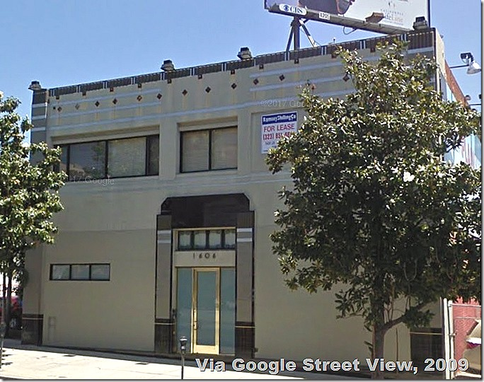 1606 Highland Avenue via Google Street View. The building has been demolished