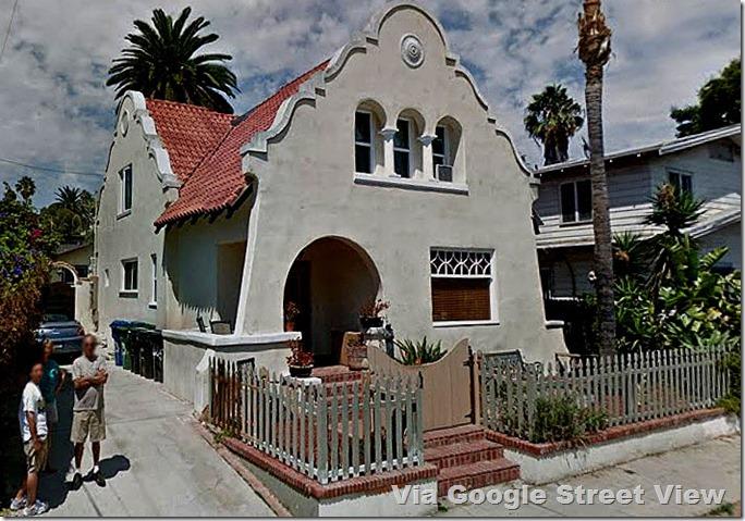 Mission Revival House at 6831 De Longpre Avenue