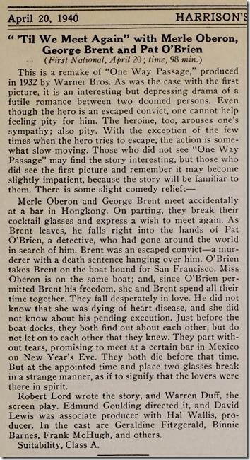 Harrison's Reports, April 20, 1940