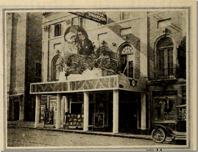 Marquee Display for Beyond the Rocks with Gloria Swanson and Rudolph Valentino