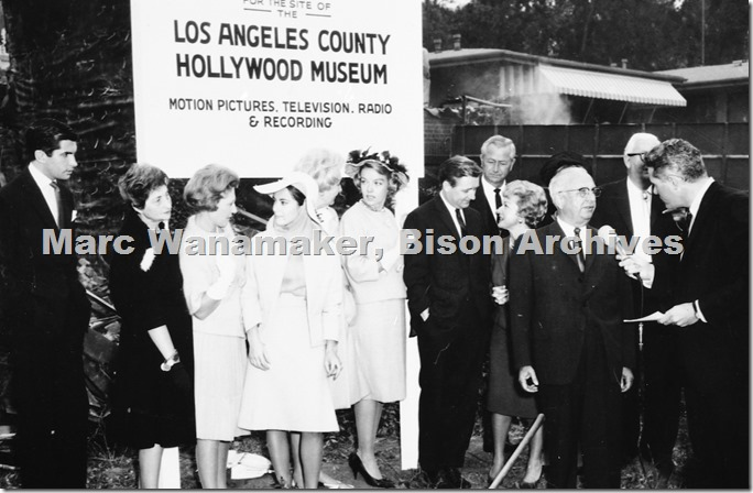 Groundbreaking Hollywood Museum 1961