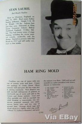 Stan Laurel, recipe for ham ring mold